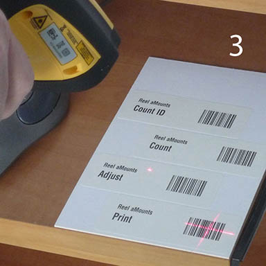 Step 3 - Scan a 'Print' bar code